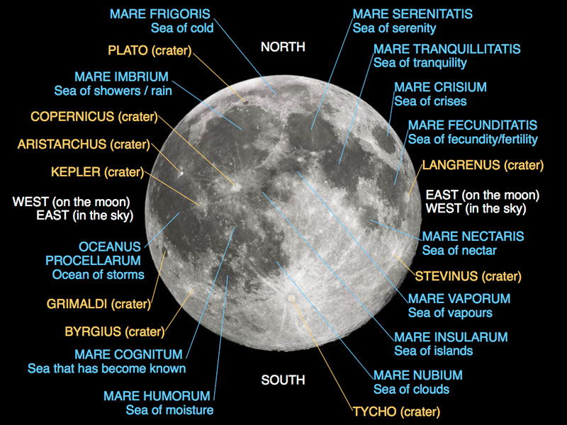 Lunar Mare. Image credit: Wiki Commons