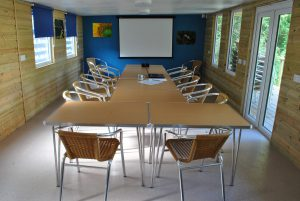 The Cabin function room set up as a meeting room