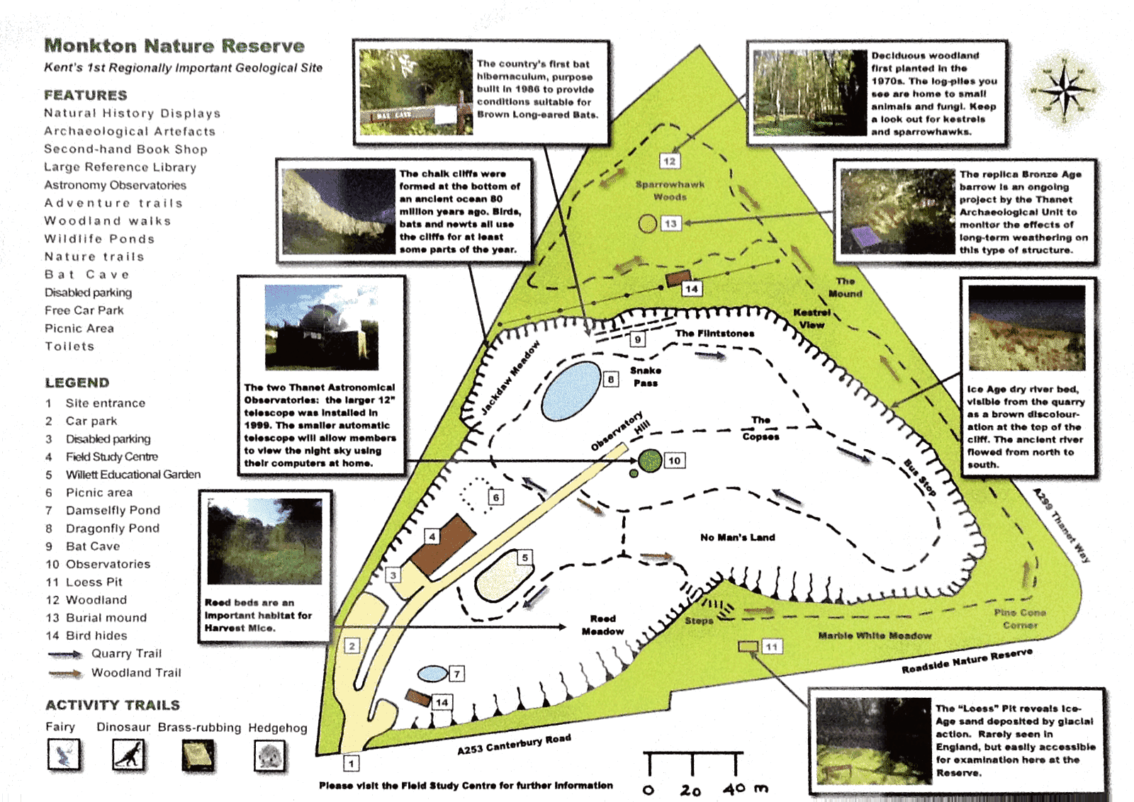 Site map of Monkton Nature Reserve